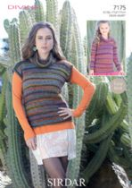 Sirdar Divine DK - 7175 Sweater and Long Sleeved Top Knitting Pattern